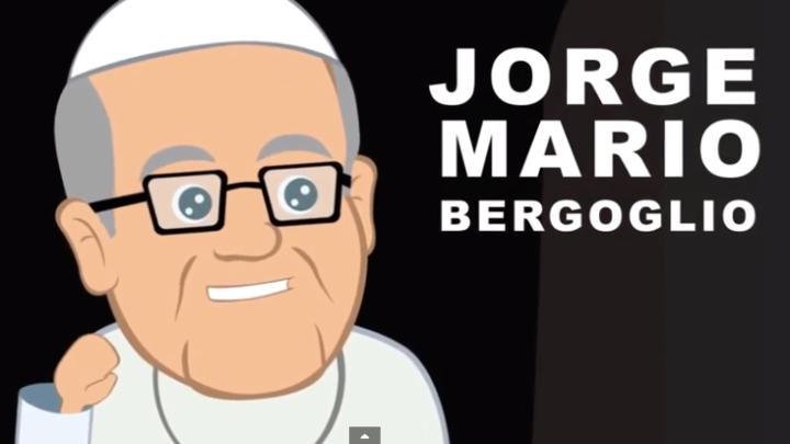 De eerste tekenfilm van pausFransiscus