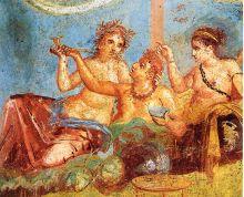 Pompeii-Casa_dei_Casti_Amanti_-_Banquet