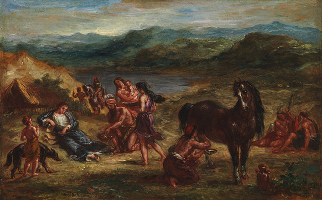 001_Ovid_among_the_Scythians_(oil_on_paper_laid_down_on_wood)