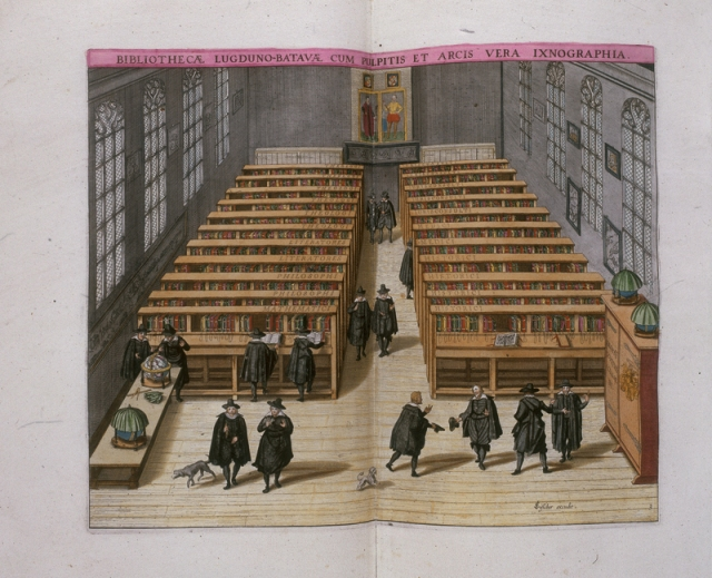 De Universiteitsbibliotheek Leiden in 1610