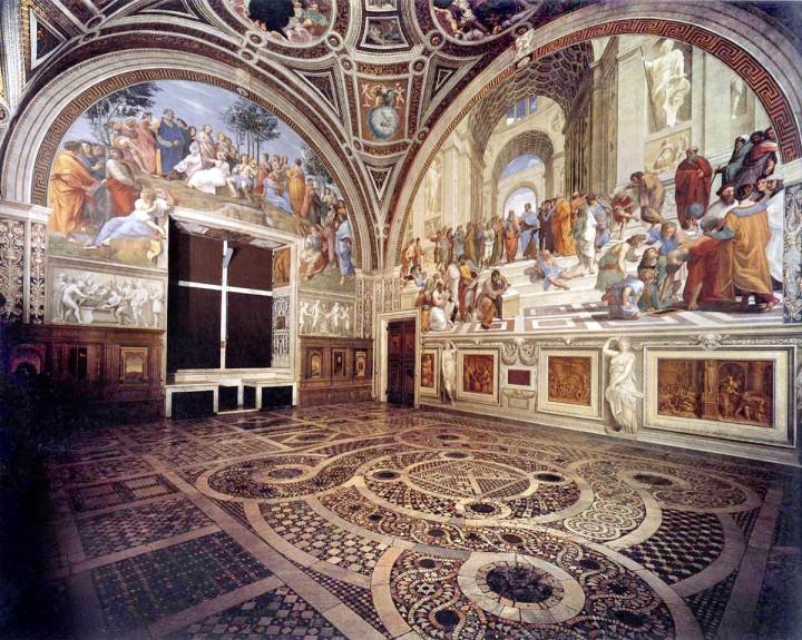 De Vaticaanse Musea zonderrij