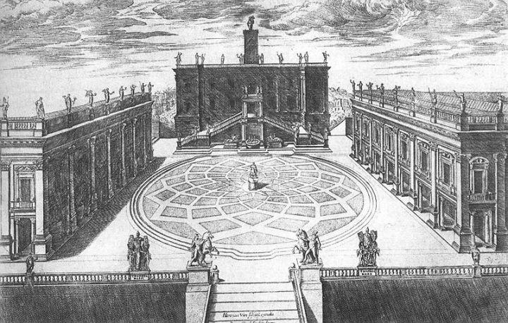 Het plein waarop Rome werdgesticht