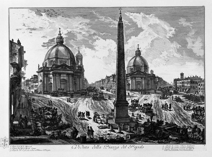 Piazza del Popolo, de ontvangstzaal vanRome