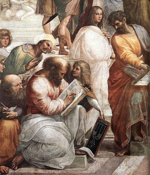 Pythagoras, detail van de School van Athene door Rafael