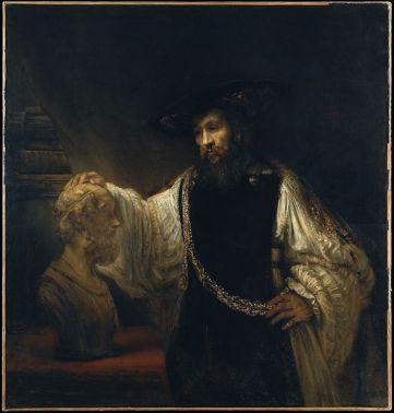 Rembrandt, Aristoteles met een buste van Homerus