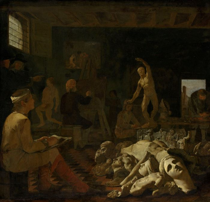 Michael Sweerts (Brussels 1618-1664 Goa, India), A Painter's Studio, c. 1648-50 Oil on canvas, 71 x 74 cm. The Rijksmuseum, Amsterdam SK-A-1957