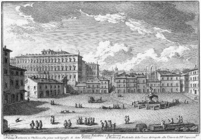 Piazza Barberini, Giuseppe Vasi (18de eeuw)