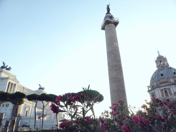 De zuil en het forum van keizerTrajanus